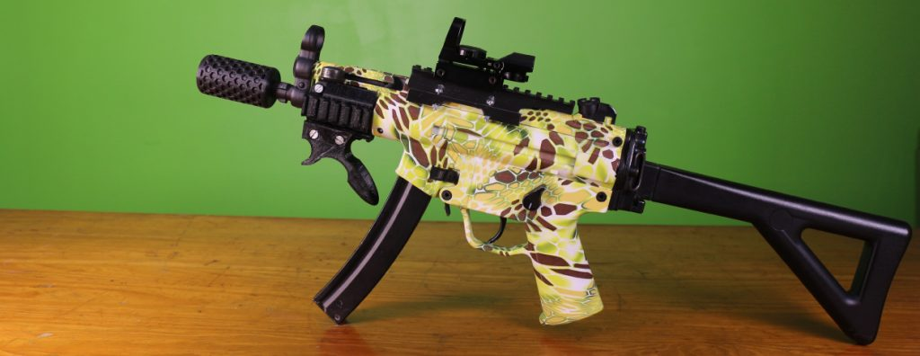 Showcase of fully modified MP5 CQB build