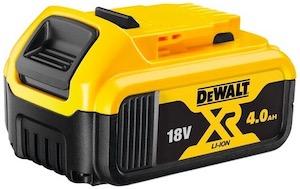A DeWalt 18V XR battery
