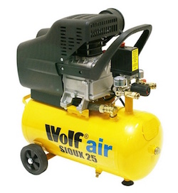Image of the portable air compressor, the Wolf Air Sioux 25