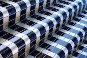Picture of a tiled stairway