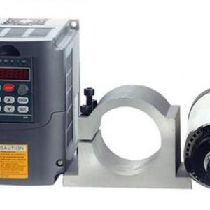 1.5kw Air Cooled Spindle Motor + 220v 1.5kw Inverter VFD + 80mm Bracket - DIY-Geek