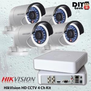 HIKVISION HD CCTV 4 Ch Kit - DIY-Geek