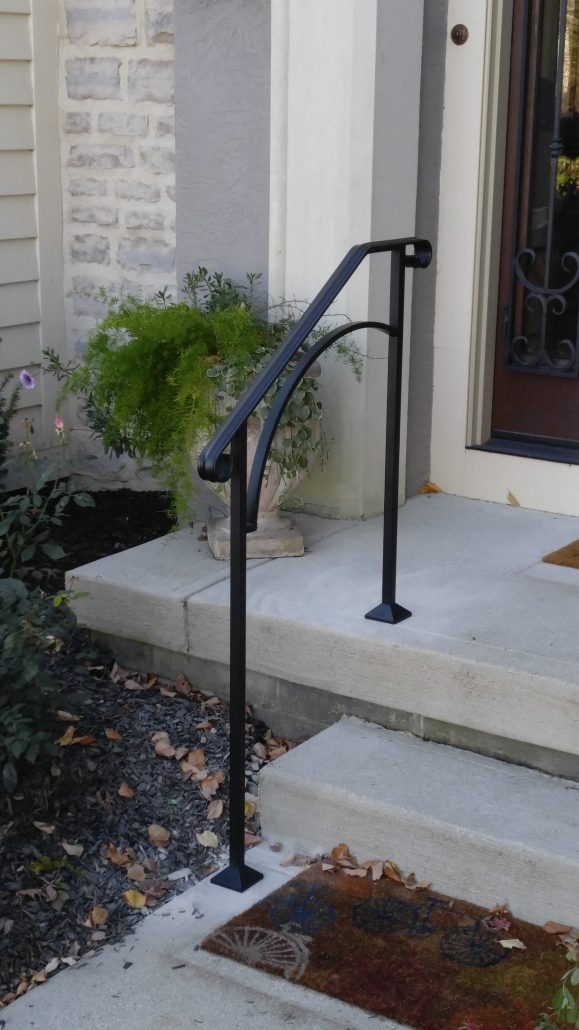 Diy Handrails Installation Outdoor Stair Railing Kits | Outside Stair Railing Installation | Rail | Simple | Staircase | Back Porch | Sunroom
