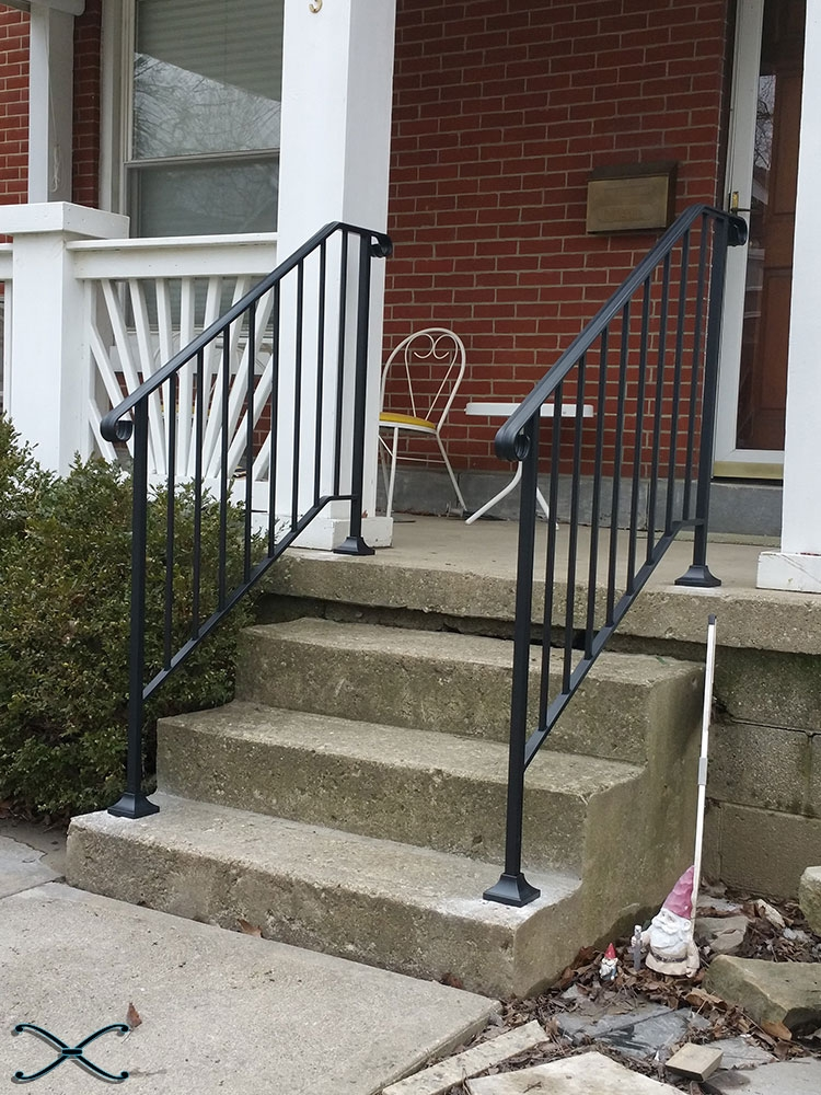 Picket 3 Diy Handrail Kit Spans Three Stair Risers | Diy Handrails For Exterior Stairs