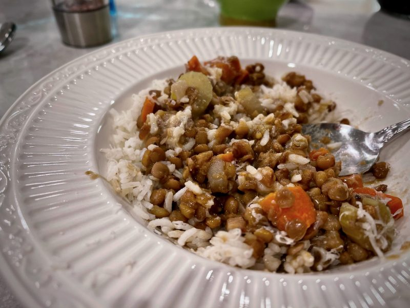 Hearty Lentils and Rice