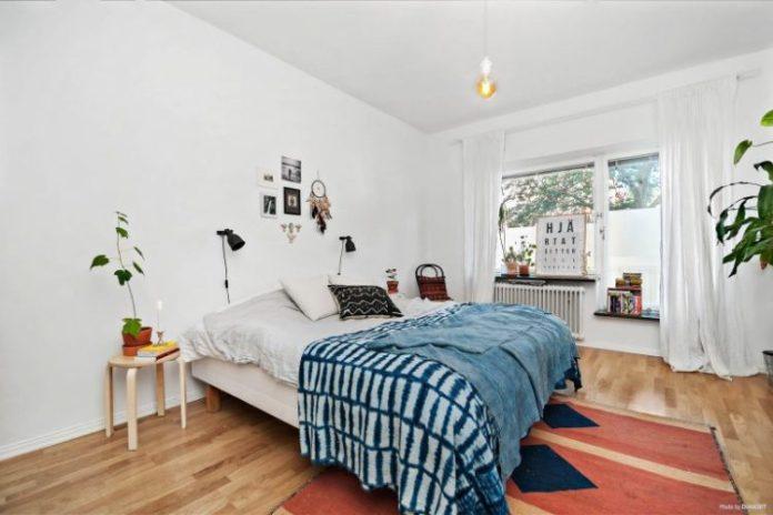 Quarto de casal apartamento escandinavo