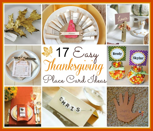 17 Easy DIY Thanksgiving Place Cards