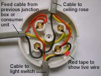 wiring diagrams for lighting circuits junction box method rh electriciansguide1 wordpress com Wiring an Outlet Box Wiring an Outlet Box