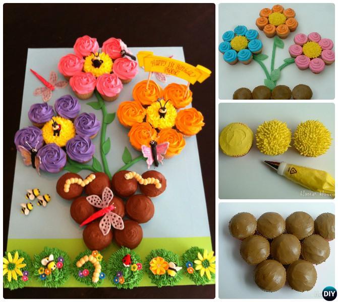 DIY Pull Apart Cupcake Cake Designs Tutorials