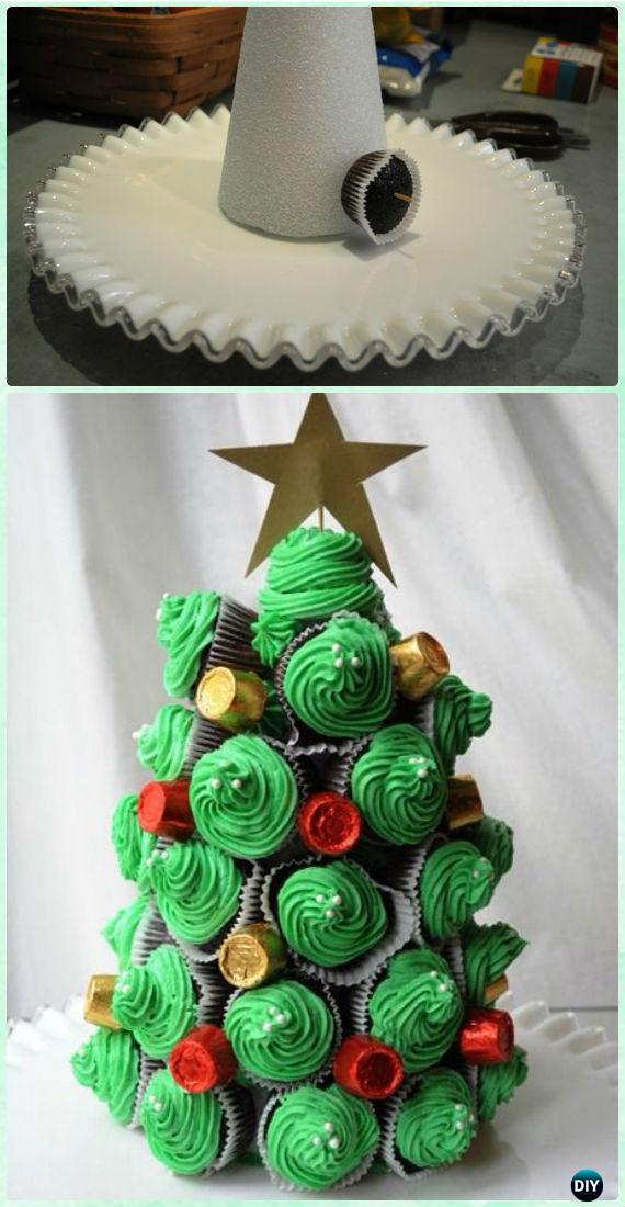 DIY Pull Apart Christmas Cupcake Cake Design Ideas