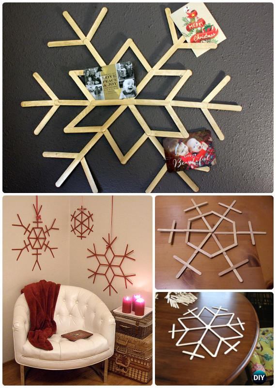 DIY Snowflake Craft Ideas Projects Picture Instructions