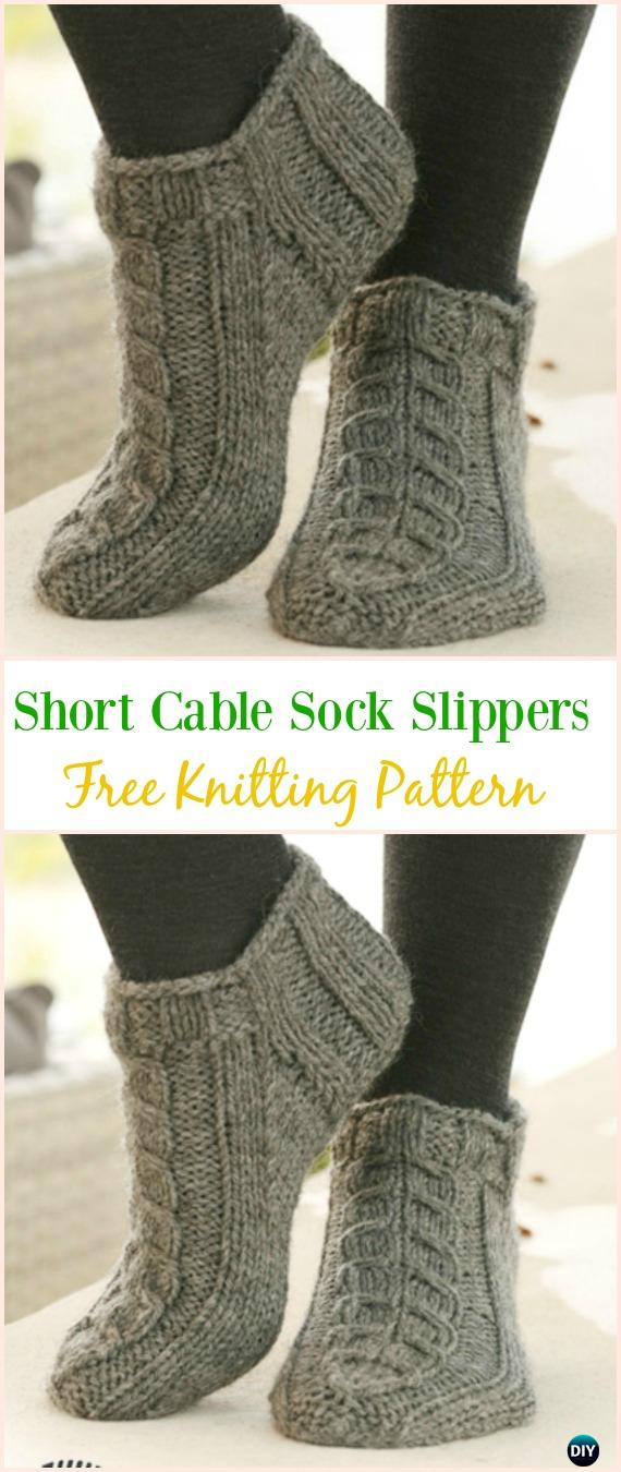 Knit Adult Slippers & Boots Free Patterns Written Tutorials
