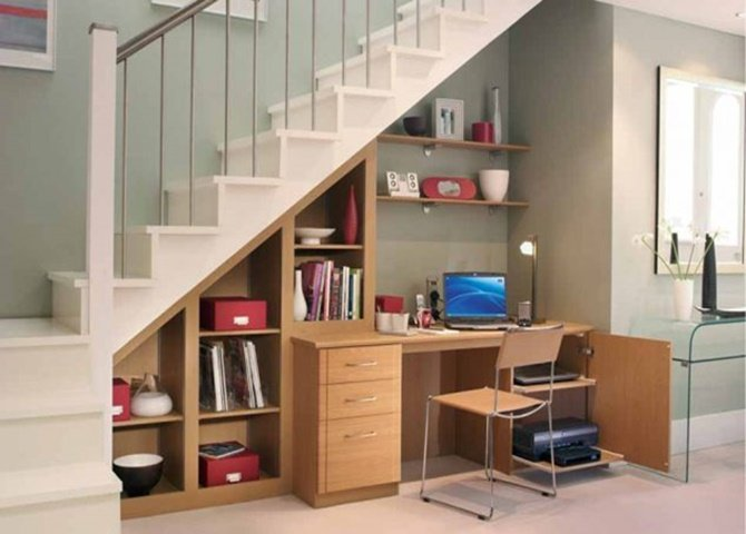 Build In Ideas To Use Space Under Stairs