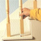 solving problems with older stairs - fixing a loose baluster
