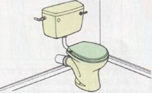low level toilet cistern