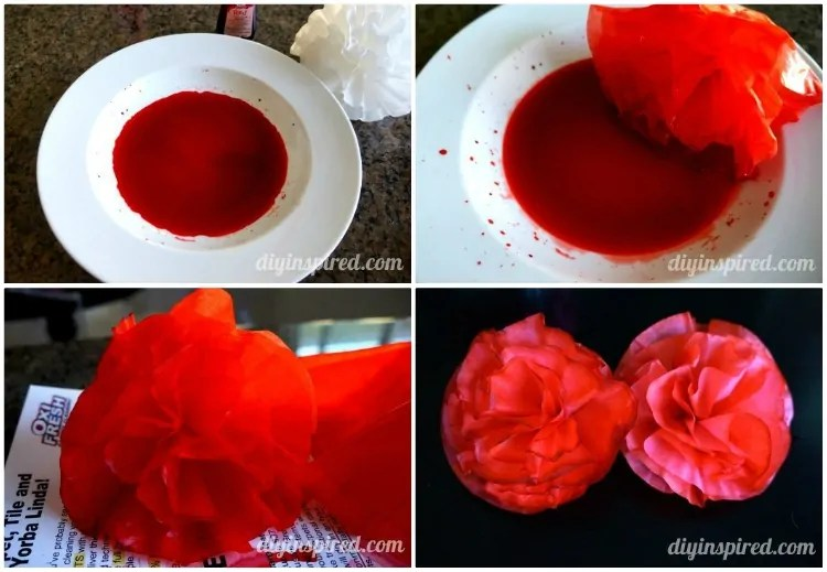 Easy Coffee Filter Paper Flowers DIY Inspired
