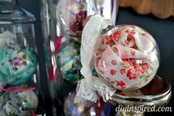 Vintage Handkerchief Ornaments DIY Inspired