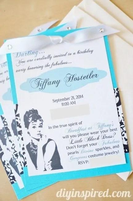 Tiffany Blue Silver Glitter Bridal Shower Invitation Teal Turquoise Wedding Hens Party Script Modern