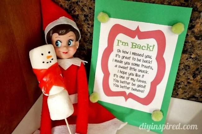 Elf On The Shelf First Day Idea DIY Inspired