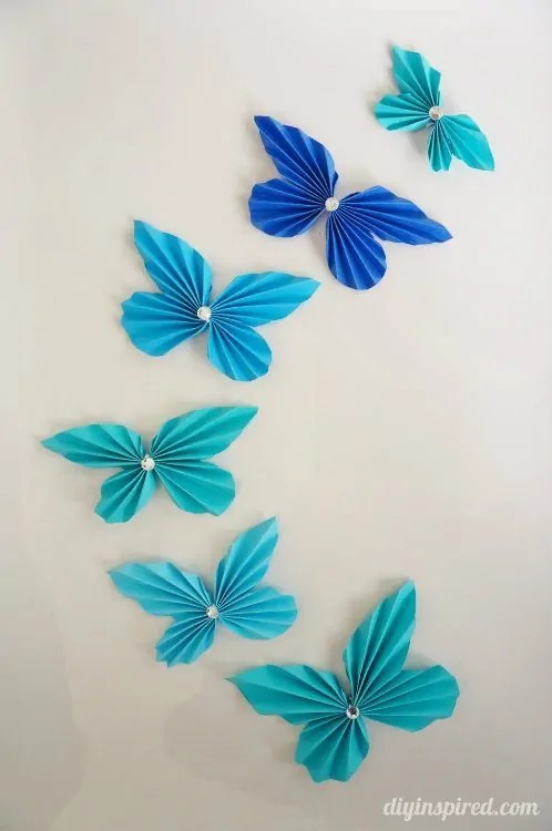 DIY Accordion Paper Butterflies DIY Inspired