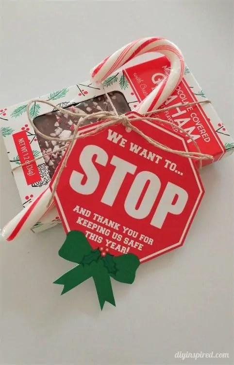 Crossing Guard Christmas Gift Tags Printable DIY Inspired