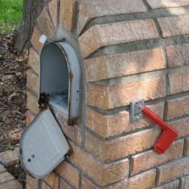 Broken Mailbox Door