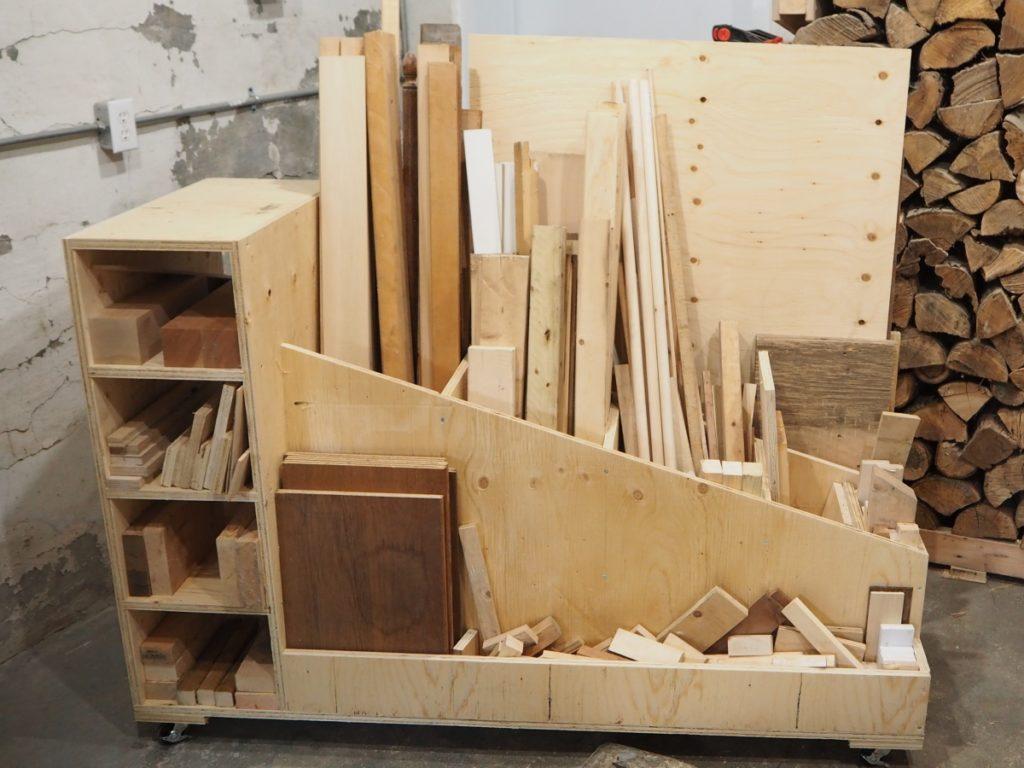 ultimate lumber storage cart diy montreal
