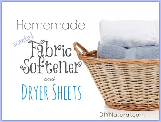 Homemade Fabric Softener and Dryer Sheets