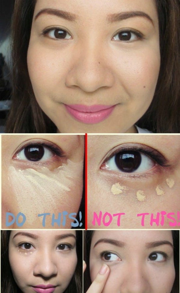 Apply Concealer in a Triangle Shape - 40 DIY Beauty Hacks That Are Borderline Genius