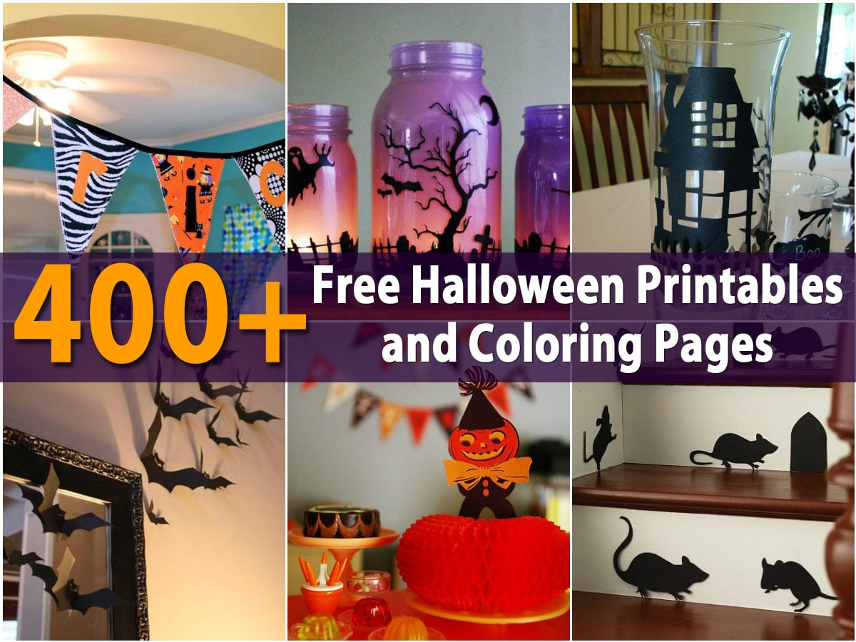 400 Free Halloween Printables And Coloring Pages