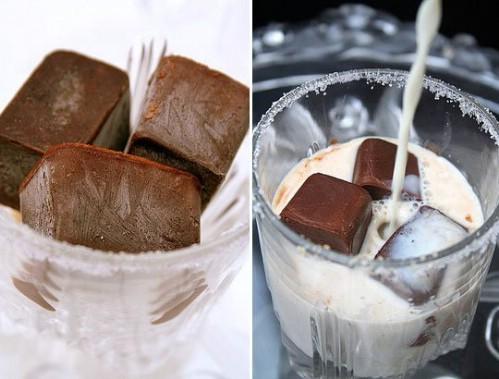 Make Chocolate Ice Cubes