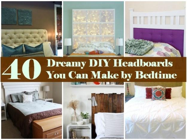 40 dreamy diy headboards you can makebedtime - diy & crafts