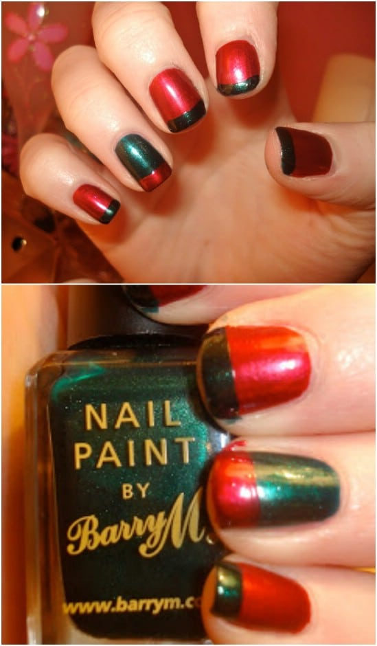 Alternating French Mani 20 Fantastic Diy Christmas Nail Art Designs That Are Borderline Genius