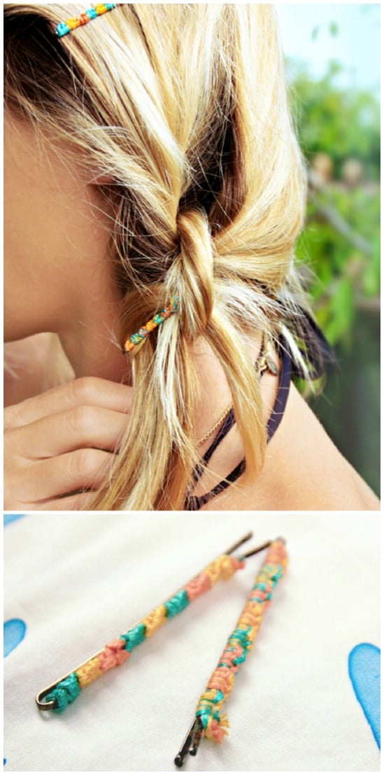 Embellished Pins - 21 Unexpectedly Stylish Ways to Wear Bobby Pins