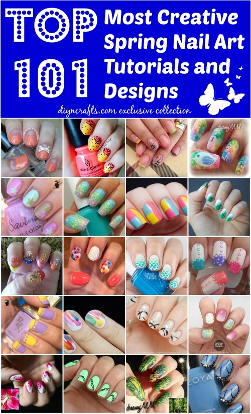 Top 101 Most Creative Spring Nail Art Tutorials And Designs Epically Huge List