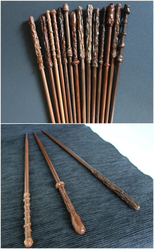 7. Make a Harry Potter wand!