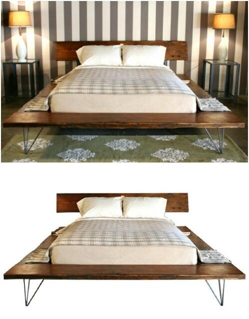 Reclaimed Wood Platform for Bed