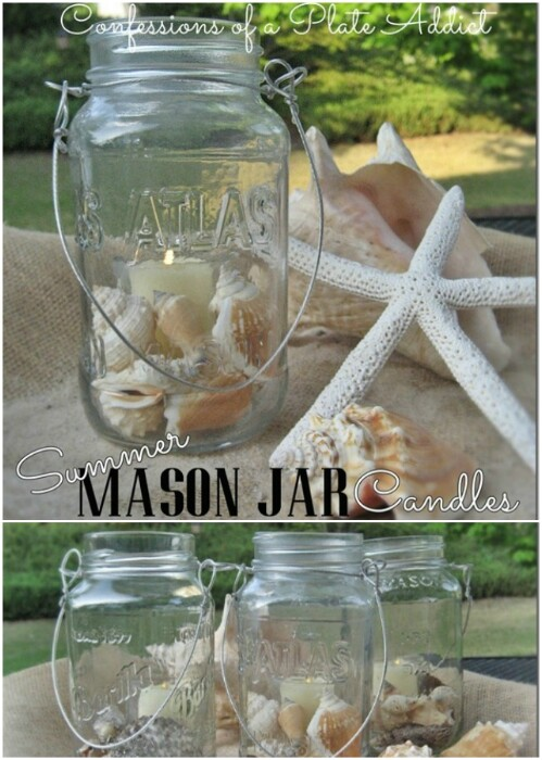 Seashell Summer Mason Jars