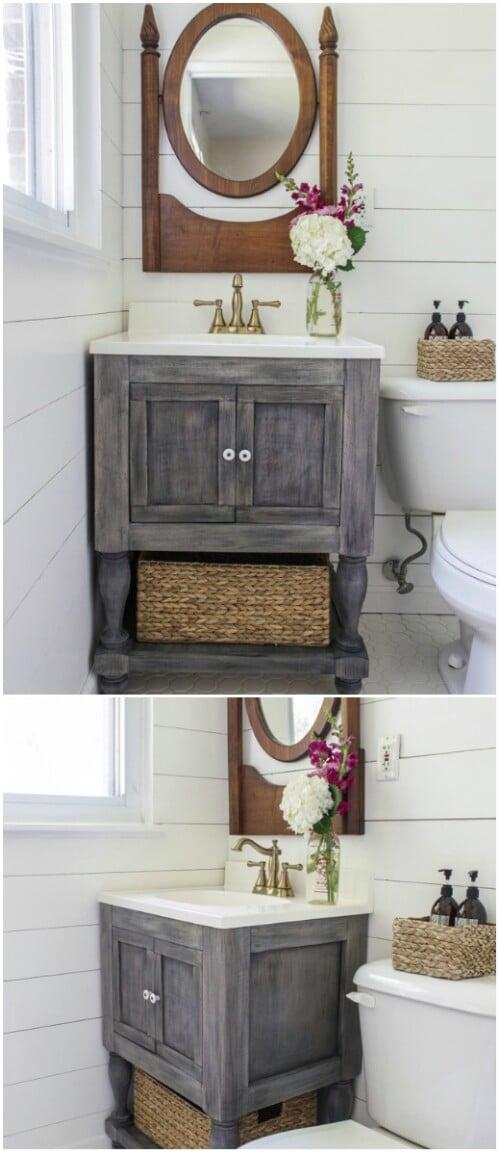 20 Gorgeous DIY Bathroom Vanities To Beautify Your Beauty