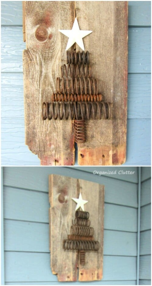 16 Rustic Farmhouse Inspired DIY Christmas Decoration