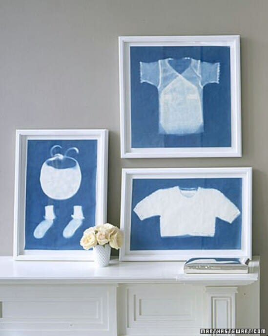 Baby Clothes Sun Prints - 20 Adorably Creative Upcycling Projects To Repurpose Old Baby Clothes