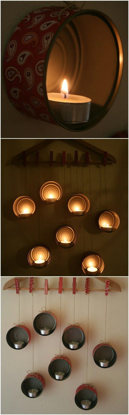 Tealight Holders - 20 Frugally Genius Ways To Upcycle Empty Tuna Cans