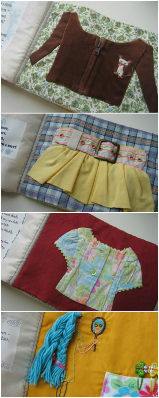 Learning Activity Book - 20 Adorably Creative Upcycling Projects To Repurpose Old Baby Clothes