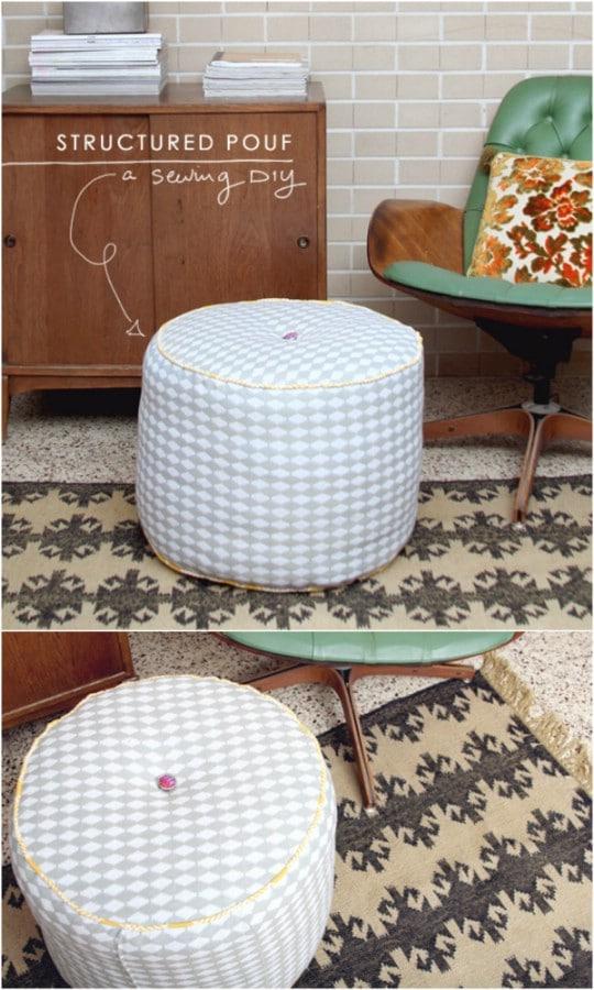 14 Amazing DIY Decorative Ottomans Ideas