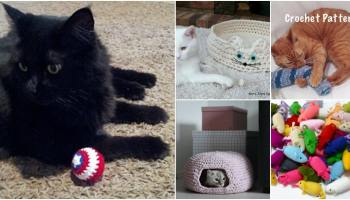 Crochet Cat Igloo PDF | crochetmagazine.com | Crochet cat bed ... | 200x350