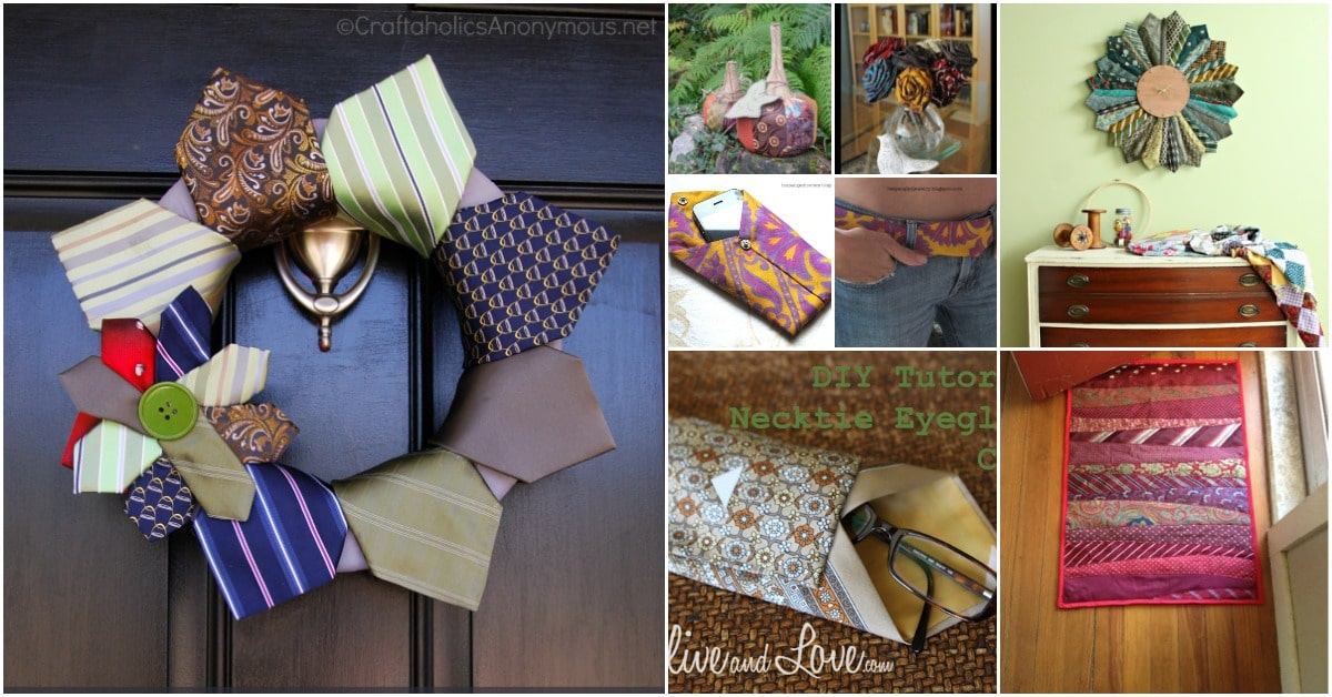 25 Cute Repurposing Ideas To Turn Old Neckties Into