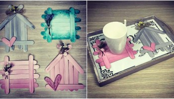 How To Make Cute Diy Napkin Holders Out Of Popsicle Sticks Diy