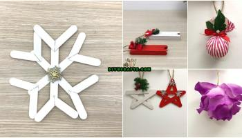 5 diy christmas tree ornaments you can easily diy video tutorials - Christmas Decoration Crafts