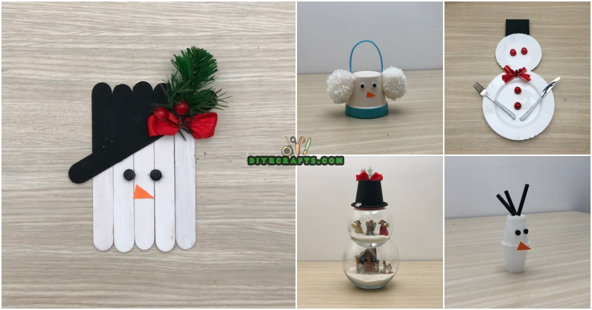 5 Creative Snowman Crafts You Can DO In Under Three