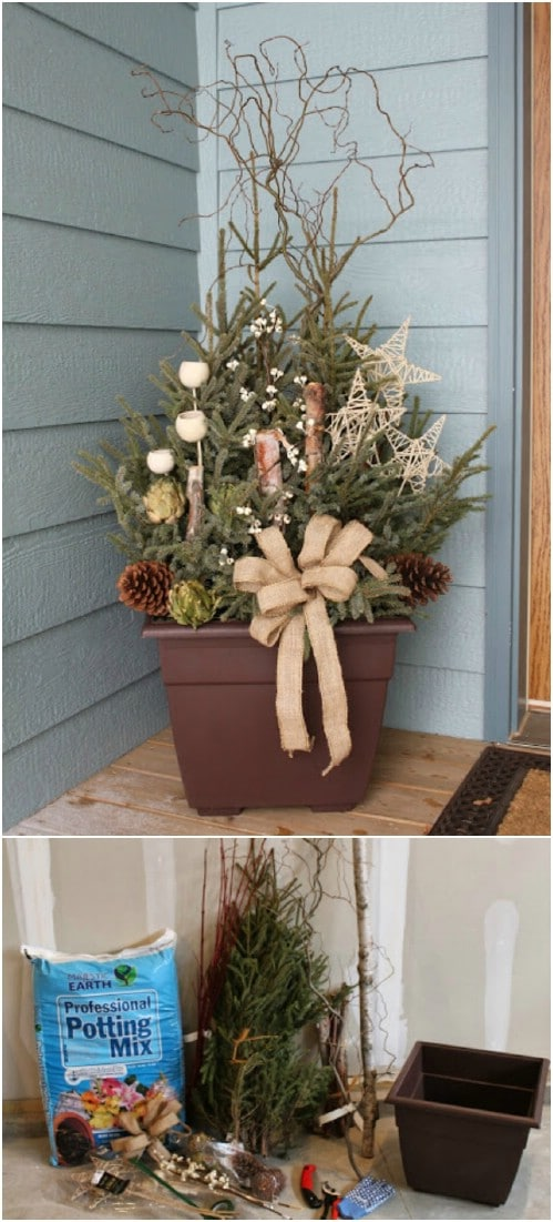 14 Rustic DIY Christmas Decor Ideas For Front Porch